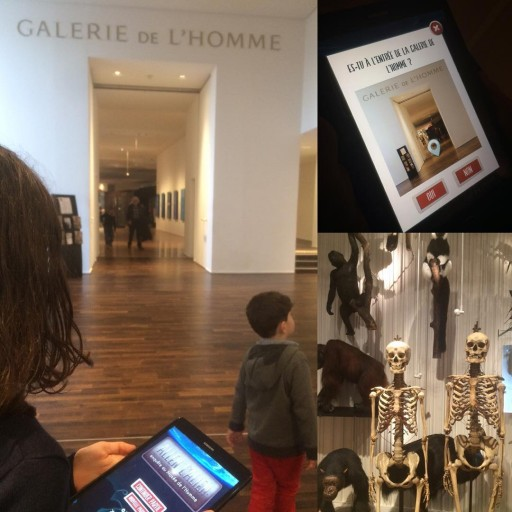 Visite en avant premire du museedelhomme avec lapplication allenallien orangefrance