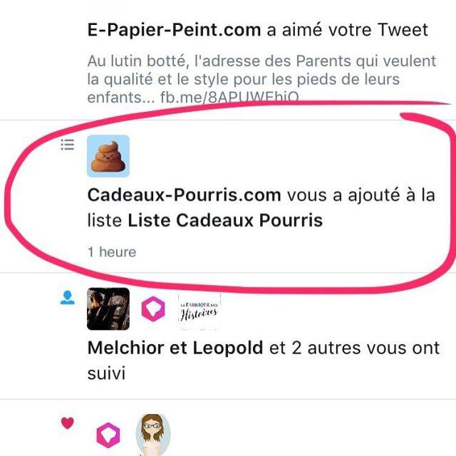 Cadeaux Pourris majoute  sa liste Cadeaux Pourris sur Twitterhellip