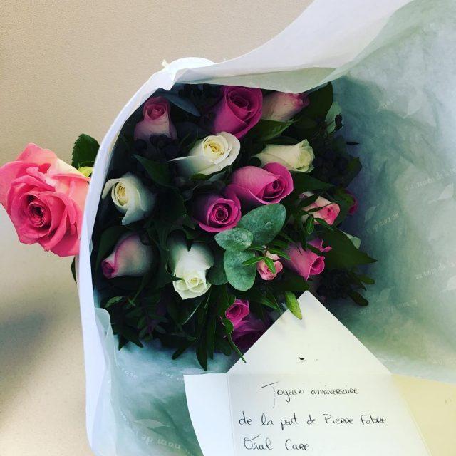 Mille mercis pierrefabregroup et heyitsroseline pour ce magnifique bouquet Jehellip