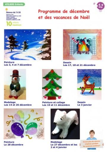 Vacances de Noël Lezard Creati_Programme de Noel_Expressionsdenfants