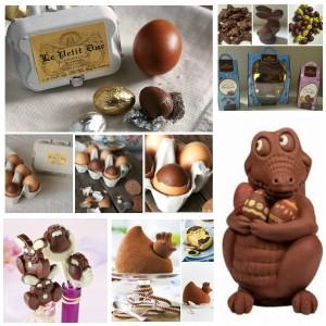 Sélection de chocolats pour la chasse aux oeufs