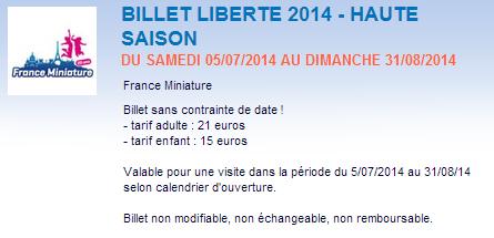 France Miniatures - Tarifs Haute Saison - ExpressionsdEnfants