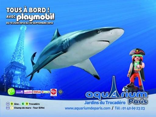 Tous à bord avec Playmobil_Affiche_Aquarium de Paris_Expressionsdenfants