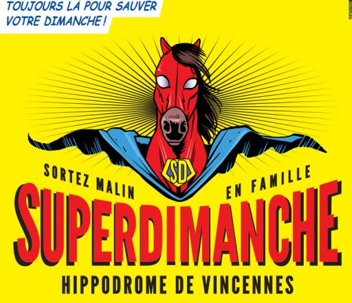 Affiche Syuperdimanche_Hippodrome de Vincennes_Expressionsdenfants