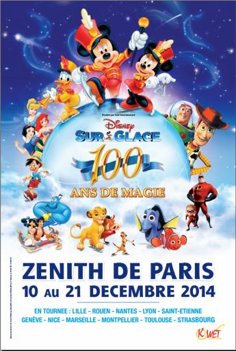 Affiche_Disney sur Glace_Zenith de Paris_Expressionsdenfants
