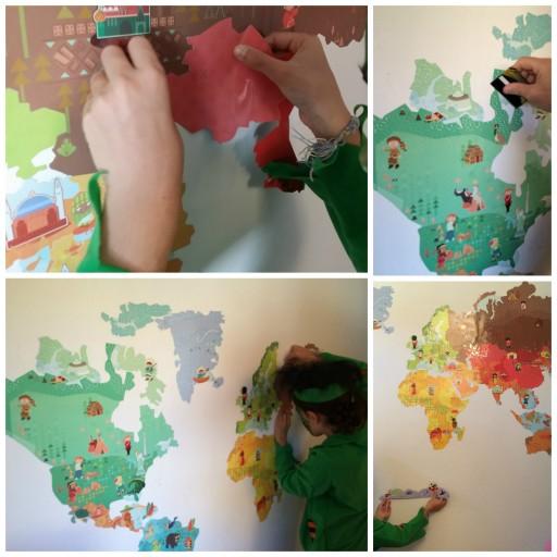 Carte du monde magnétique_Pose_Magnetistick_Janod_Expressionsdenfants