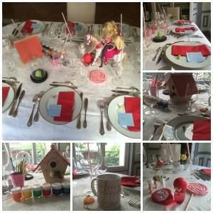 Notre table personnalisée par Rose Fournier