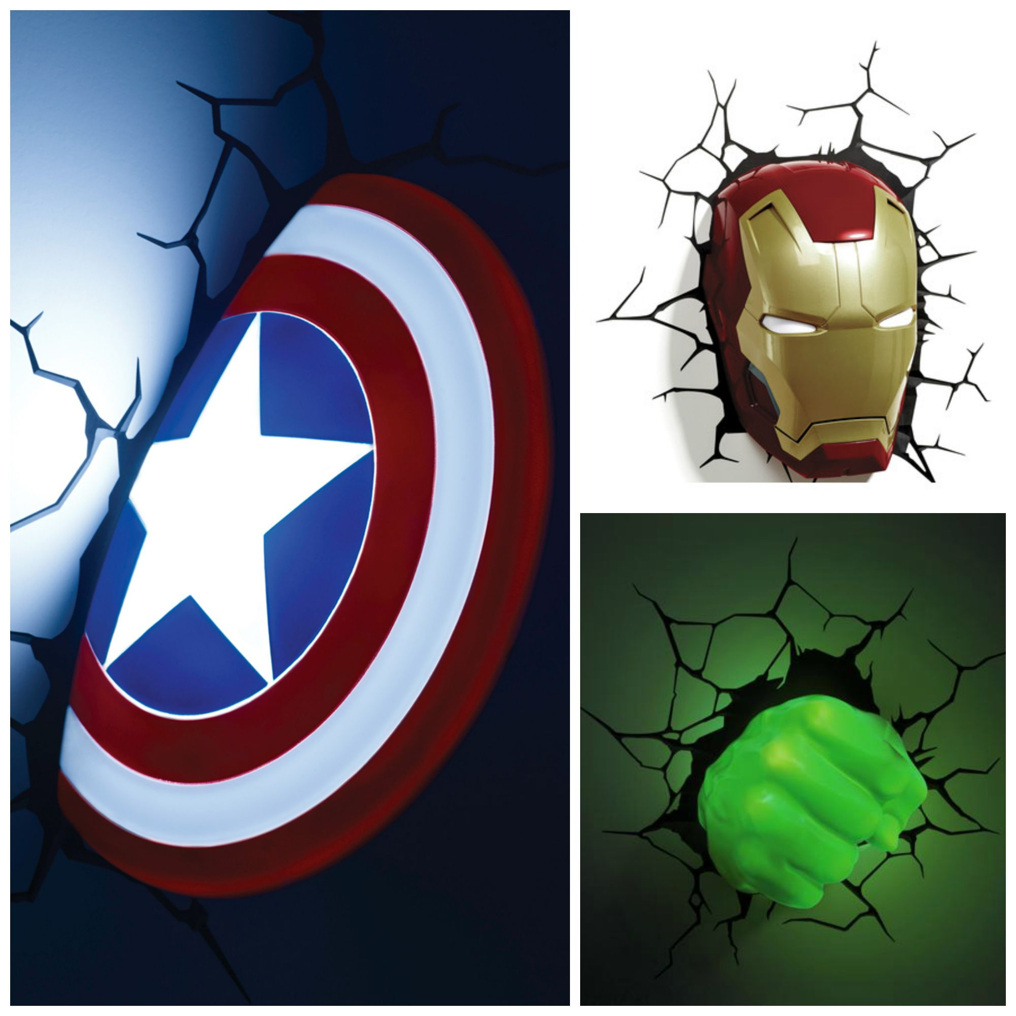 Applique 3d avengers for Lampe decoration murale 3d marteau thor