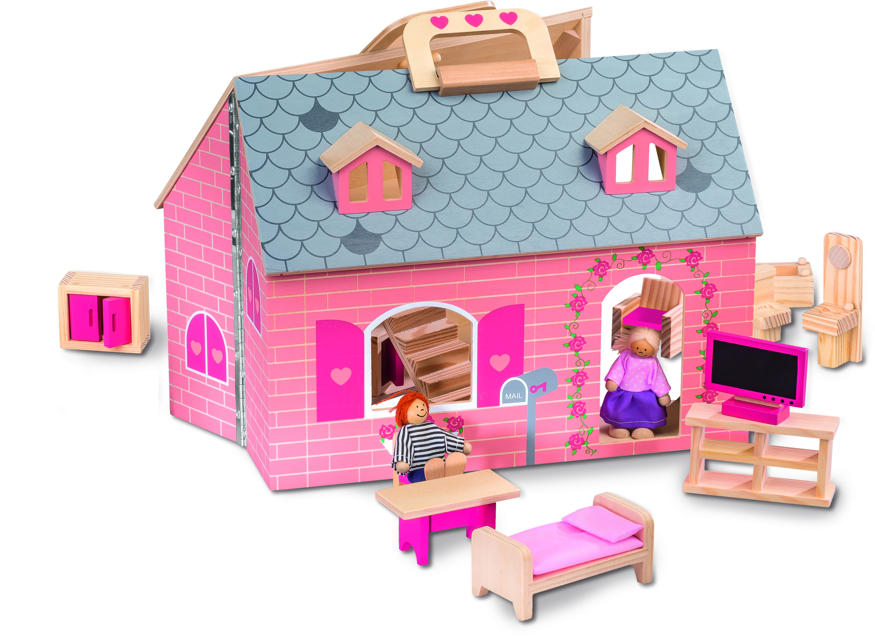 Maison En Bois Lidl : Jouets en bois_Maison de poup?e_Lidl_Expressionsdenfants