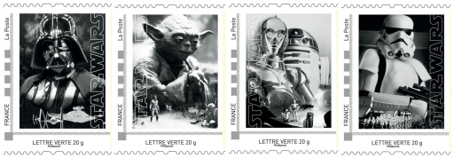 coffret collector de 4 timbres_Star Wars_La Poste_Expressionsdenfants
