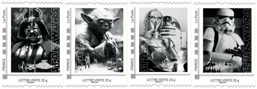 coffret collector de 4 timbres_Star Wars_La Poste_Expressionsdenfants