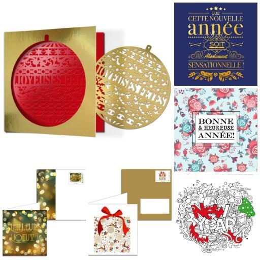Cartes de voeux_La Poste nouvelle année Expressionsdenfants