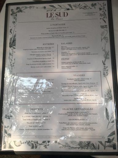 Le Sud_Brasserie Provençale_Paris_La Carte_Expressionsdenfants