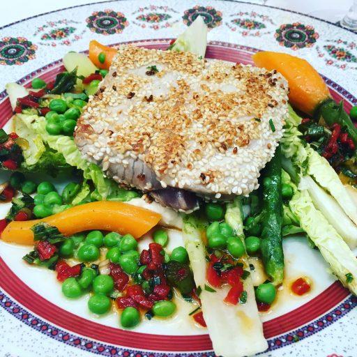 Le Sud_Brasserie Provençale_Thon mi-cuit au sésame_Expressionsdenfants