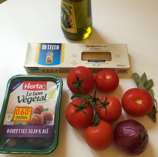 Ma recette_Le Bon Végétal_Boulettes soja et blé_Sauce Tomate_Spaghettis_Ingrédients_Expressionsdenfants