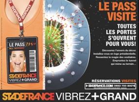 Concours Stade de France : Pass Visite adulte X 2 à gagner