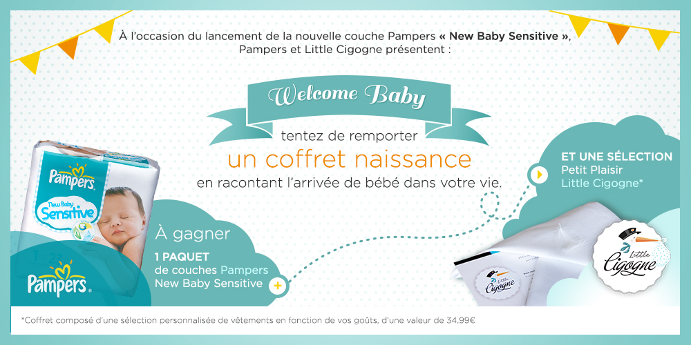Welcome Baby + Concours Pampers