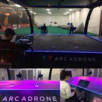 Arcadrone, l'attraction ludique, mêlant pilotage de drones et jeux vidéos